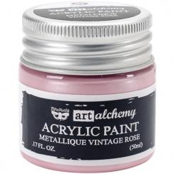 Peinture acrylique métallique Art Alchemy VINTAGE ROSE par Prima Marketing. Scrapbooking et loisirs créatifs. Livraison rapid...