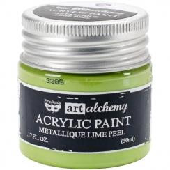 Peinture acrylique métallique Art Alchemy LIME PEEL