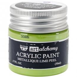 Peinture acrylique métallique Art Alchemy LIME PEEL par Prima Marketing. Scrapbooking et loisirs créatifs. Livraison rapide e...