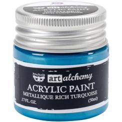 Peinture acrylique métallique Art Alchemy RICH TURQUOISE par Prima Marketing. Scrapbooking et loisirs créatifs. Livraison rap...
