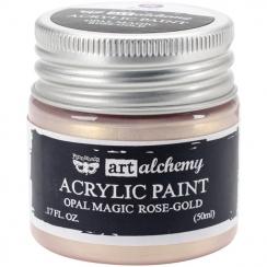 Peinture acrylique Finnabair nacrée Art Alchemy ROSE GOLD par Prima Marketing. Scrapbooking et loisirs créatifs. Livraison ra...