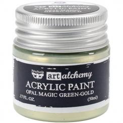 Parfait pour créer : Peinture acrylique nacrée Art Alchemy GREEN GOLD par Prima Marketing. Livraison rapide et cadeau dans ch...