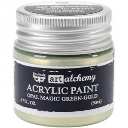 Peinture acrylique nacrée Art Alchemy GREEN GOLD par Prima Marketing. Scrapbooking et loisirs créatifs. Livraison rapide et c...