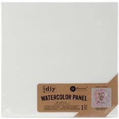 Panneau papier aquarelle 20 x 20 cm