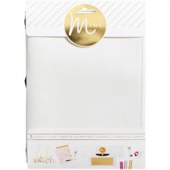 PROMO de -30% sur Couverture de carnet Minc tissu blanc CANVAS Heidi Swapp