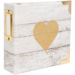 Album 10 x 10 cm GLITTER HEART par Heidi Swapp. Scrapbooking et loisirs créatifs. Livraison rapide et cadeau dans chaque comm...