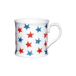 Mug étoiles bleues/rouges
