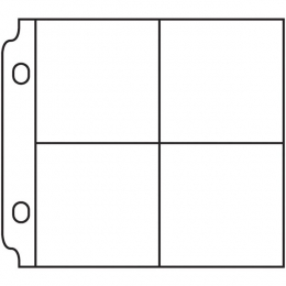 Pochettes 4 compartiments 5 x 5 cm