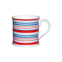 PROMO de -50% sur Mug rayures bleues/rouges Kitchen Crafts