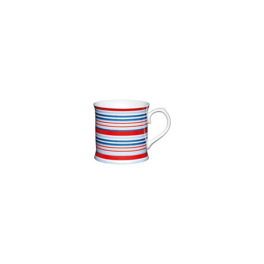 Mug rayures bleues/rouges