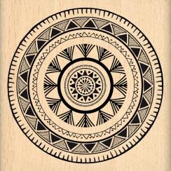 Tampon bois CERCLE ETHNIQUE par Florilèges Design. Scrapbooking et loisirs créatifs. Livraison rapide et cadeau dans chaque c...