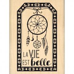 Tampon bois TAG DE RÊVE par Florilèges Design. Scrapbooking et loisirs créatifs. Livraison rapide et cadeau dans chaque comma...