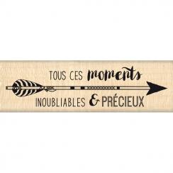 Tampon bois TOUS CES MOMENTS par Florilèges Design. Scrapbooking et loisirs créatifs. Livraison rapide et cadeau dans chaque ...