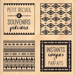 Tampon bois RECUEIL DE SOUVENIRS par Florilèges Design. Scrapbooking et loisirs créatifs. Livraison rapide et cadeau dans cha...