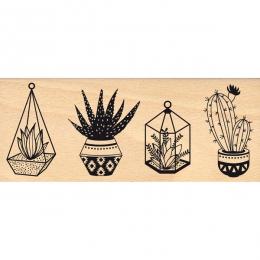 PROMO de -40% sur Tampon bois PETITES PLANTES Florilèges Design