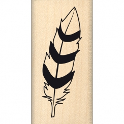 Tampon bois PLUME BICOLORE par Florilèges Design. Scrapbooking et loisirs créatifs. Livraison rapide et cadeau dans chaque co...