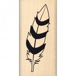 PROMO de -99.99% sur Tampon bois PLUME BICOLORE Florilèges Design