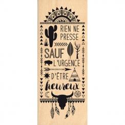 PROMO de -40% sur Tampon bois RIEN NE PRESSE Florilèges Design