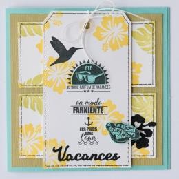 Tampon bois FEUILLE EXOTIQUE par Florilèges Design. Scrapbooking et loisirs créatifs. Livraison rapide et cadeau dans chaque ...