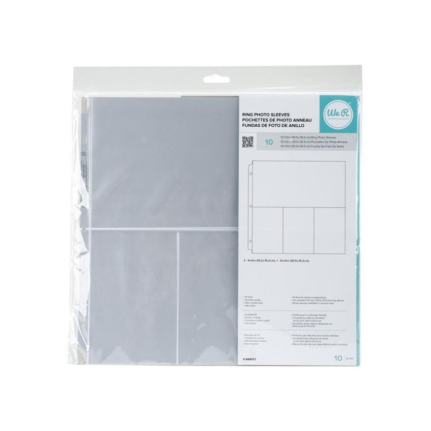 Pochettes 30.5 x 30.5 cm à 4 compartiments par We R Memory Keepers. Scrapbooking et loisirs créatifs. Livraison rapide et cad...