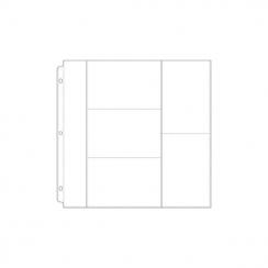 Pochettes 30.5 x 30.5 cm à 6 compartiments