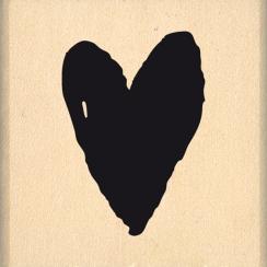 Tampon bois PETIT COEUR AQUARELLE par Florilèges Design. Scrapbooking et loisirs créatifs. Livraison rapide et cadeau dans ch...