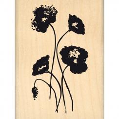 Tampon bois GENTILS COQUELICOTS par Florilèges Design. Scrapbooking et loisirs créatifs. Livraison rapide et cadeau dans chaq...