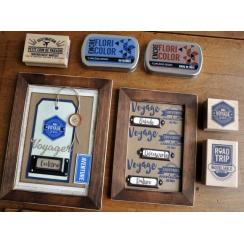 Tampons clear AU BOUT DU MONDE par Florilèges Design. Scrapbooking et loisirs créatifs. Livraison rapide et cadeau dans chaqu...
