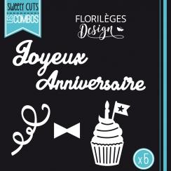 Outils de découpe JOYEUX ANNIVERSAIRE - Capsule Octobre par Florilèges Design. Scrapbooking et loisirs créatifs. Livraison ra...