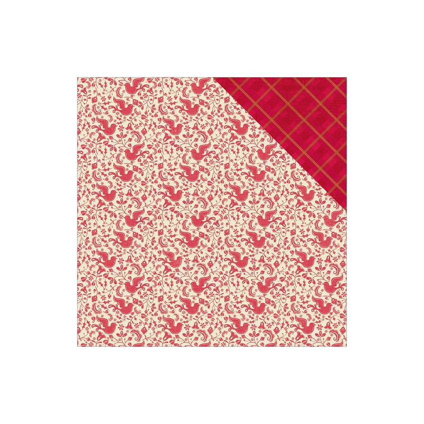 Papier imprimé Classic Christmas DOVE/PLAID