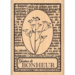 Tampon bois GRAINES DE BONHEUR