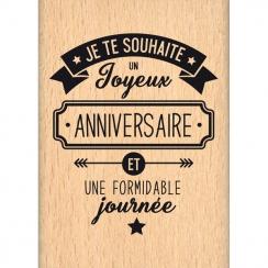 Tampon bois JE TE SOUHAITE par Florilèges Design. Scrapbooking et loisirs créatifs. Livraison rapide et cadeau dans chaque co...