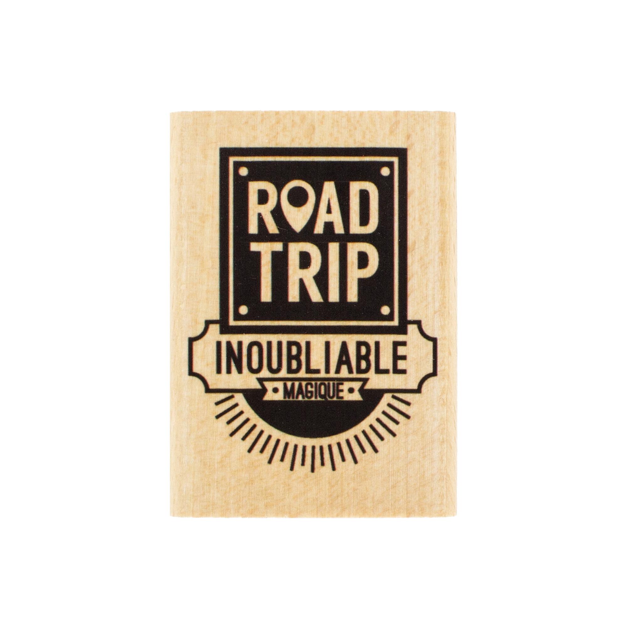 Tampon bois ROAD TRIP - Capsule Août