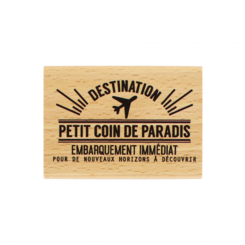 Tampon bois COIN DE PARADIS par Florilèges Design. Scrapbooking et loisirs créatifs. Livraison rapide et cadeau dans chaque c...