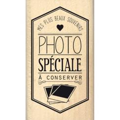 PROMO de -60% sur Tampon bois PHOTO SPÉCIALE Florilèges Design