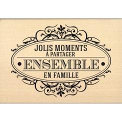 Tampon bois À PARTAGER ENSEMBLE par Florilèges Design. Scrapbooking et loisirs créatifs. Livraison rapide et cadeau dans chaq...