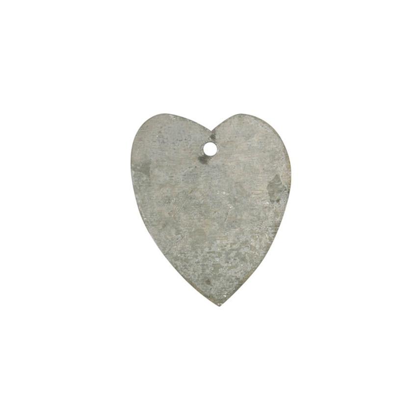 Tag coeur zinc