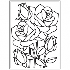Plaque d'embossage MOSAIC ROSE