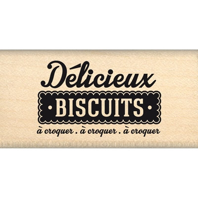 Tampon bois DELICIEUX BISCUITS