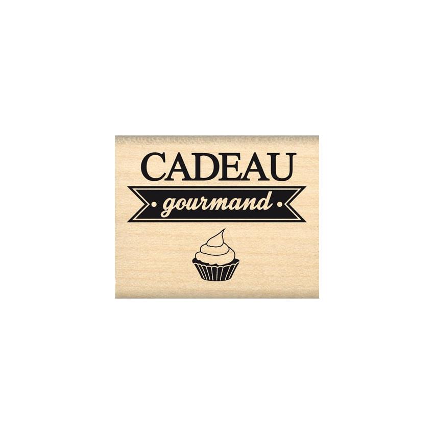 Tampon bois CADEAU GOURMAND