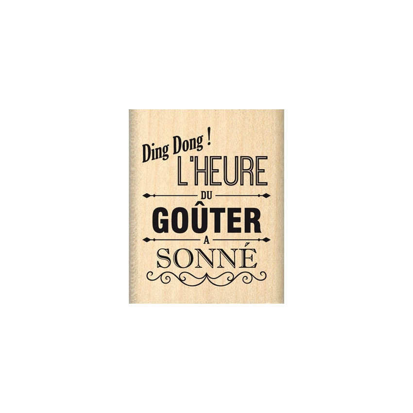 Tampon bois L'HEURE DU GOUTER