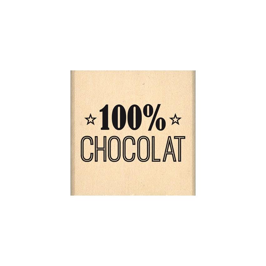 Tampon bois 100% CHOCOLAT