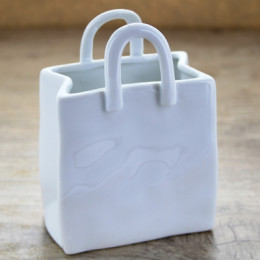 Sac rectangle en porcelaine