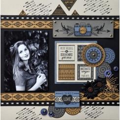 Tampon bois HELLO PHOTO par Florilèges Design. Scrapbooking et loisirs créatifs. Livraison rapide et cadeau dans chaque comma...