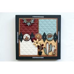 Tampon bois CACTUS D'AMOUR par Florilèges Design. Scrapbooking et loisirs créatifs. Livraison rapide et cadeau dans chaque co...