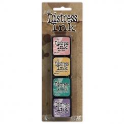 Encres Mini Distress KIT n°4 par Ranger. Scrapbooking et loisirs créatifs. Livraison rapide et cadeau dans chaque commande.