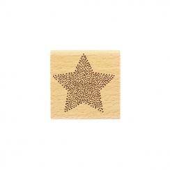 Tampon bois ÉTOILE EN POINTS par Florilèges Design. Scrapbooking et loisirs créatifs. Livraison rapide et cadeau dans chaque ...