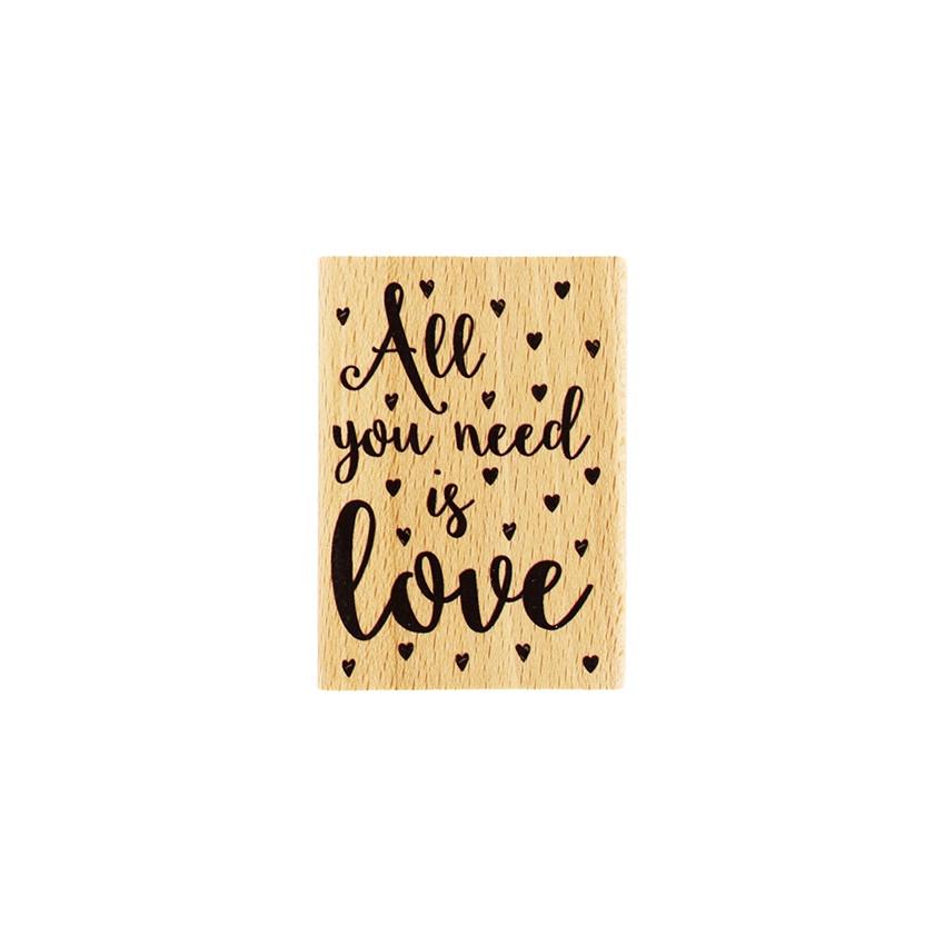 Tampon bois NEED LOVE