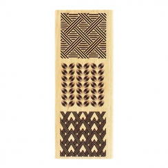 PROMO de -60% sur Tampon bois TROIS CARRÉS DÉCO Florilèges Design
