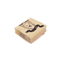 PROMO de -99.99% sur Tampon bois KEEP CALM C'EST NOËL Florilèges Design